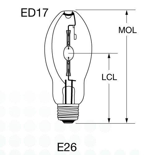 Sunlite MH250/T15/MOG 250-Watt Metal Halide T15 Bulb, Mogul Base, Clear