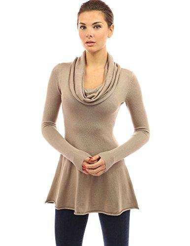 PattyBoutik Womens Line Tunic Sweater product image