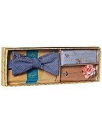 Original Penguin - Corbata para hombre (3 piezas, cuadrada de bolsillo y caja de pasadores de solapa)