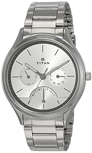 Titan Neo Analog Silver Dial Men's Watch NM1803SM01/NN1803SM01