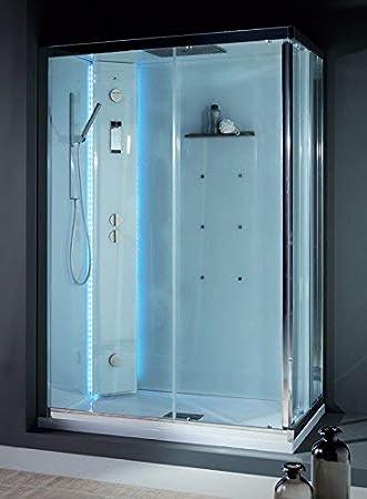 grandform Box ducha multifunción White space Vapor + hidromasaje 110 x 70: Amazon.es: Hogar