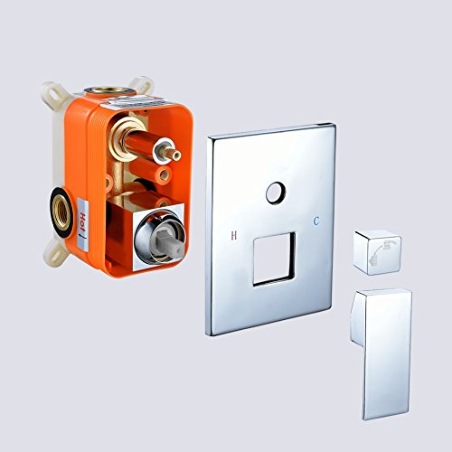 SR SUN RISE Square Manual Bathroom Shower Mixer Valve Control SRSH-5044-K by SR SUN RISE