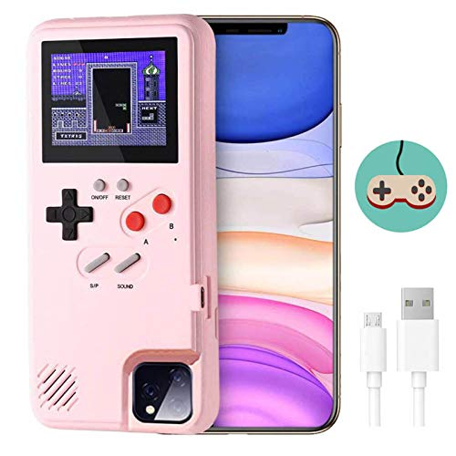 Game Console Case for iPhone,Dikkar Retro Protective Cover Self-Powered Case with 36 Small Game,Full Color Display,Video…