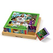 Melissa & Doug New Testament Bible Stories Wooden Cube Puzzle - 6 Puzzles in 1 (16 pcs)