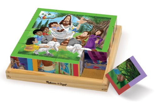 Melissa & Doug New Testament Bible Stories Wooden Cube Puzzle - 6 Puzzles in 1 (16 pcs) ()