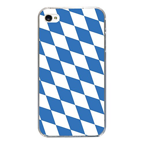 "Disagu Design Case Schutzhülle für Apple iPhone 4s Hülle Cover - Motiv ""Bayern-Flagge"""