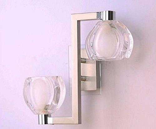 Crystal Bathroom Light Fixtures Stainless Steel Led Bath: GOWE Simple G4 * 2 Light LED Stainless Steel Crystal Wall