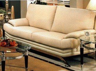 Amazon.com: Retro Modern Eames Era Full Italian Leather Sofa ...
