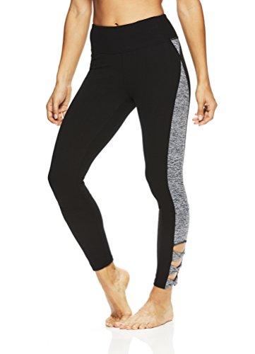 Gaiam Women's 7/8 Leggings - Performance Activewear Yoga Pants - Black (Tap Shoe), X-Small