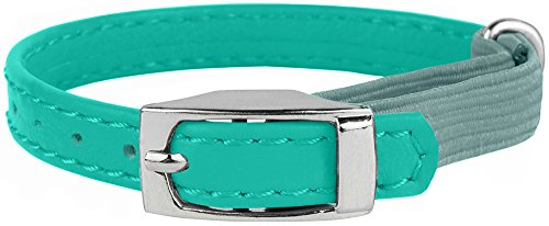 CollarDirect-Leather-Cat-Collar-Cat-Safety-Collar-with-Elastic-Strap-Kitten-Collar-for-Cat-with-Bell-Black-Blue-Red-Orange-Lime-Green