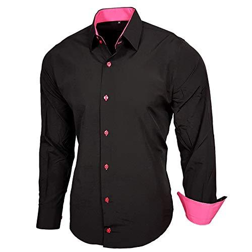 Manches 44 Noble Hommes À Baxboy Simple Chemises Subtle Contraste Chemises Hommes Longues B Chemises NoirRose n0OPwk