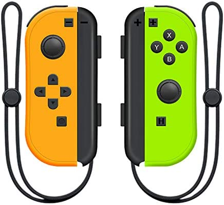 SINGLAND Wireless Controller for Nintendo Switch Left and Right Mini Switch Controller,Switch Controllers Gamepad with Adjustable Turbo Dual Shock Gyro Axi (Green and Yellow)