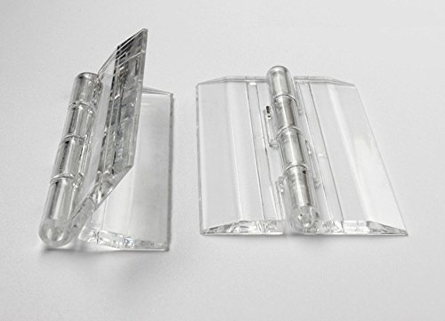 50pcs Of 25X33mm Clear Acrylic Hinge, PMMA Perspex Transparent Folding Hinge Furniture Accessory By ()