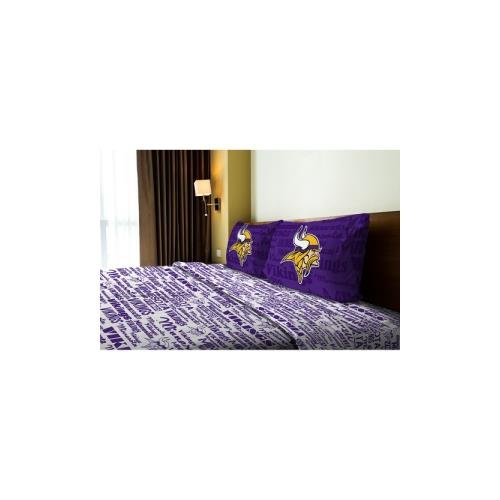 Northwest NOR-1NFL821010023WMT Minnesota Vikings NFL Full Sheet Set - Anthem Series (Minnesota Vikings Bedding)