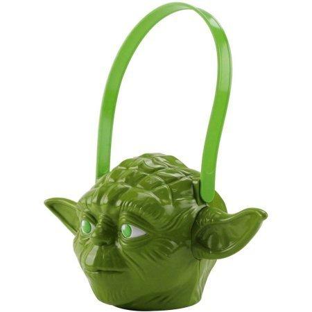 Yoda Halloween Candy Pail (1) (Walmart Halloween Accessories)