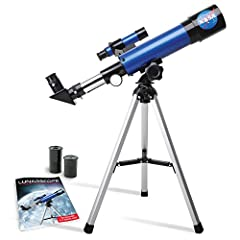 Explore the Moon with NASA and Inspire Your Young Astronaut with the Lunar Telescope Kit Includes: 1 Lunar Telescope 1 Tabletop Tripod 1 Low-Power Eyepiece 1 High-Power Eyepiece 1 Lens Dust Cap 1 Learning Guide with Instructions This easy-to-...