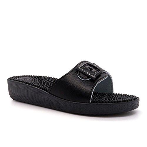 Noir Noir Footwear Ouvertes London femme l'arrière à vqwYXS