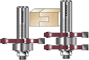 MLCS 17840 Katana Tongue and Groove Router Bit Set, 1/2-Inch Shank, 2-Piece