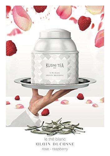 Kusmi Tea Paris - Premium Luxury Teas - WHITE TEA Rose Raspberry by Alain Ducasse - 120gr / 4.23oz - Lacquered White tin by Kusmi Tea Paris (Image #2)