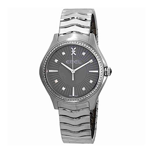 EBEL Women's Swiss Quartz Stainless Steel Casual Watch, Color:Silver-Toned (Model: 1216304)