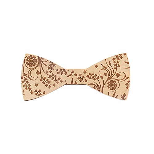 G On Minion Costume (Wooden Bow Ties for Men Party Butterfly Bowtie Costume (g))
