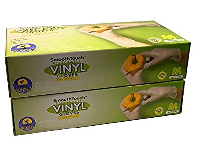 Disposable Viny Gloves, Non-Sterile, Poweder Free, Smooth Touch, Food Service Grade
