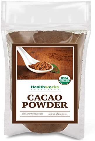 Healthworks Cacao Powder Organic 2 Pound