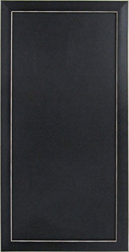 DesignOvation Wyeth Framed Magnetic Chalkboard Wall Organization Board, Black - Magnetic Aluminum Chalkboards