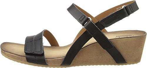 Clarks Women's Alto Gull Black Leather Sandal 7.5 B (M)