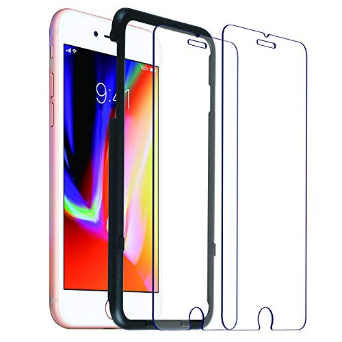 Co-Goldguard [2-Pack] iPhone 8 Plus/7 Plus Screen Protector,HD Tempered Glass Film[Double Defence][Alignment Flame] [9H Hardness] Screen Cover for Apple iPhone 8+/7+ (5.5