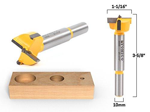 Carbide Cutting Forstner Bit (Yonico 43030C 1-1/16-Inch Diameter Carbide Forstner Drill Bit 10mm Shank)