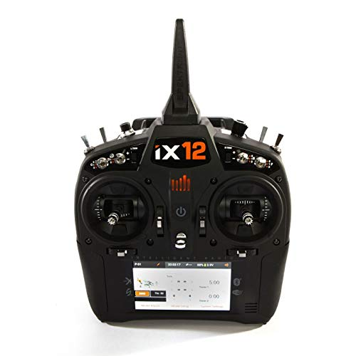- Spektrum iX12 12-Channel 2.4Ghz Telemetry DSMX RC Tx (Transmitter Only) | 250 Model Memory | Touchscreen | WiFi & Bluetooth Compatible | Black