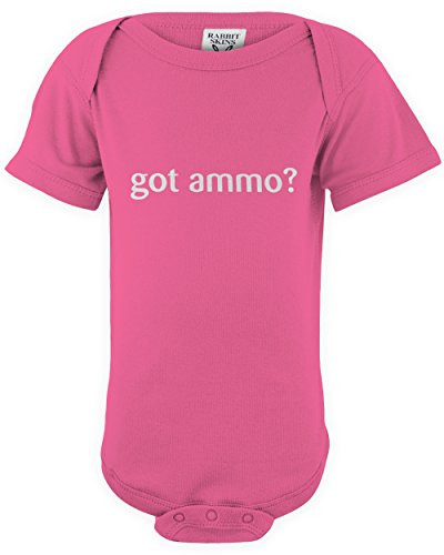 ShirtLoco Baby Got Ammo Infant Bodysuit, Hot Pink 18 Months