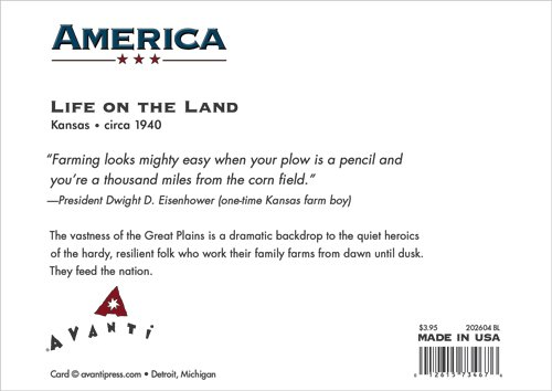 Avanti Press Historic America Blank Notecards, Life on the Land: the Great Plains, 10-Count - 32062