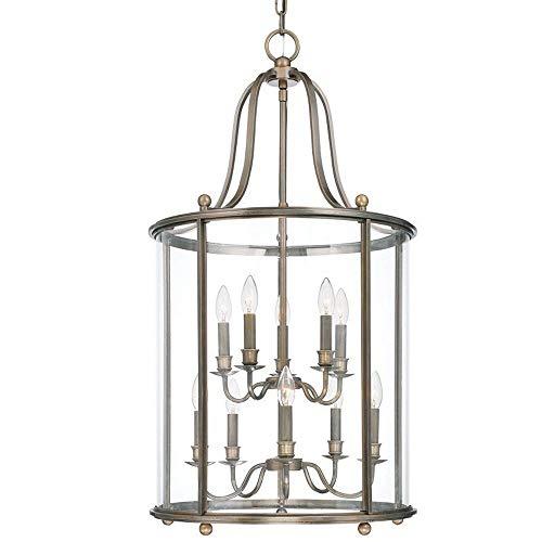 Hudson Valley Lighting 1320-DB Mansfield Collection - Ten Light Pendant, Distressed Bronze