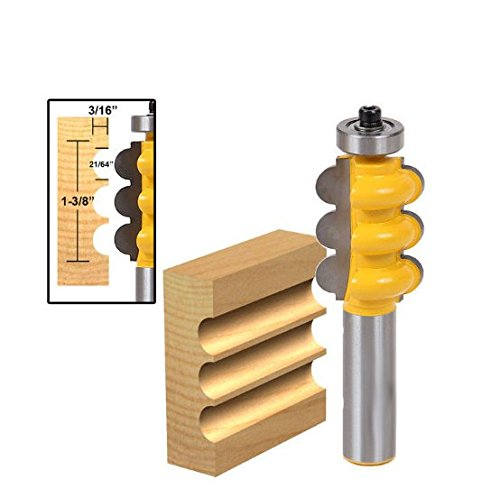 Face Molding Router Bit - Large Triple Bead Column/Face Molding Router Bit -1/2