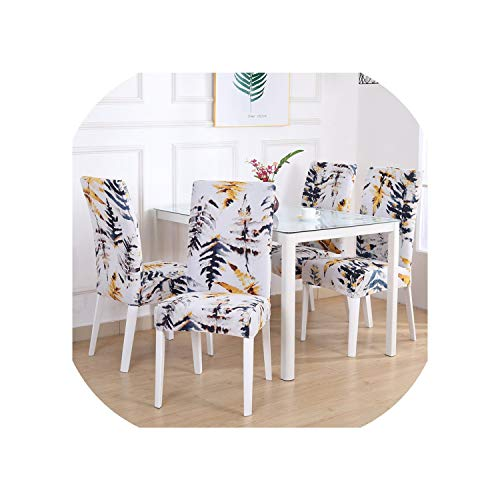 Dining Chair Cover Spandex Elastic Pastoral Print Modern Slipcovers Furniture Cover Kitchen Wedding 1/2/4/6PCS,Color 14,1 Piece (Furniture Kmart Covers Outdoor)