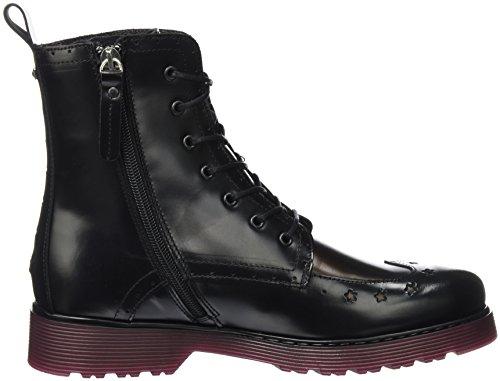 Tommy Rangers Black Bottes L1285otta Femme Hilfiger 3a Noir qvqO8w