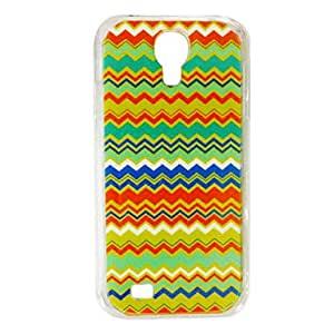 LIMME Colorful Waves Stripe Pattern Plastic Hard Case for Samsung S4 I9500