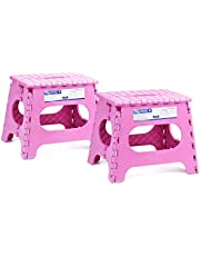 Acko Folding Step Stool Lightweight Plastic Step Stool 2 Pack,11 inch Foldable Step Stool for Kids and Adults,Non Slip Folding Stools for Kitchen Bathroom Bedroom