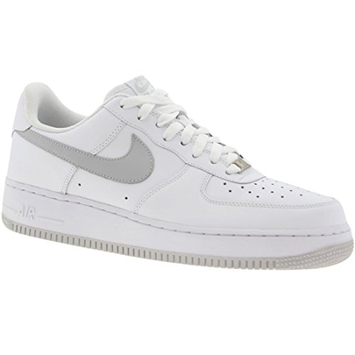 NIKE AIR FORCE 1 LOW (GS) BIG KIDS 314192-122 (4.5, WHITE/SPORT RED)