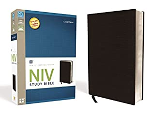 NIV Study Bible, Large Print, Bonded Leather, Black, Red Letter Edition (0310437571) | Amazon Products