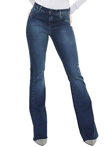 822c563ed Calca Jeans Morena Rosa Carol Cos Médio Barra Refilada - Cores(Azul)  Tamanho Calça(44) ...