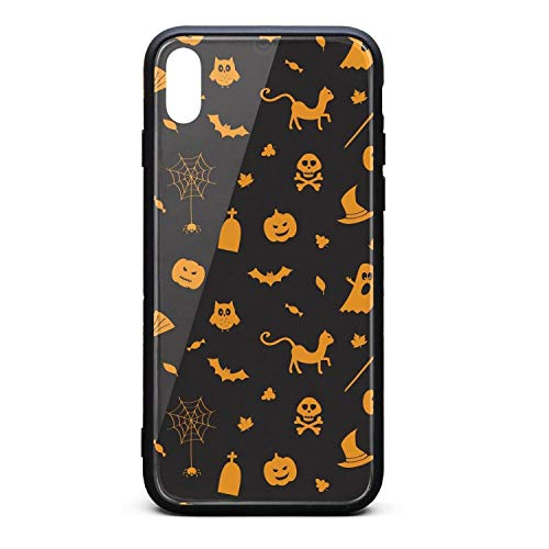 Halloween Pumpkin Spider owl Ghost Black Compatible with iPhoneXs/X Cases Personalised Fashion Anti-Scratch iPhone -