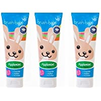 Brush-Baby Applemint Toothpaste 0-3 Years (50ml) gets young kids brushing! With fluoride and xylitol to protect kids teeth