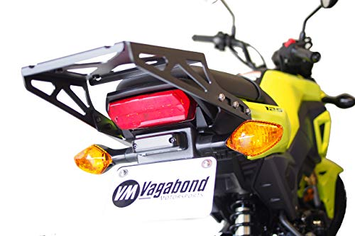 Vagabond Motorsports VM-HG750 Cargo Rack & Fender Eliminator Bundle Compatible with Honda Grom / MSX125 (2017+) ()
