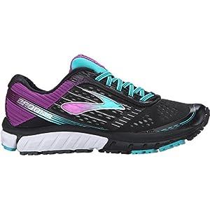 Brooks Women's Ghost 9 Black/Sparkling Grape/Ceramic Running shoes - 7 D - Wide