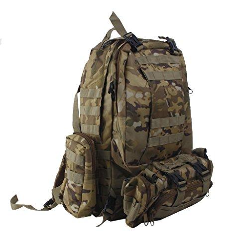 Molle Mochila Bolsa Mochila De Asalto Tactico Militar Para Practicar Senderismo Cp 65L Camo