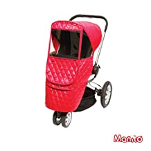 [Manito] Castle Beta Cover / Cover for Baby Stroller and Pushchair, Rain Cover, Wind Weather Shield for outdoor strolling, Eye Protective Wide Windows (Red)