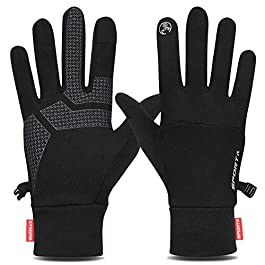 Yobenki Winter Gloves, Warm Running Gloves Thermal Gloves for Men Women Anti-slip Touchscreen Gloves Windproof Cycling Gloves For Outdoor Sports Driving Climbing Riding